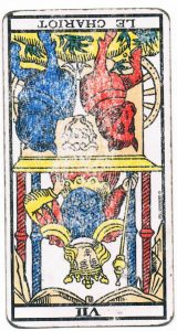 Le-Chariot inverse tarot